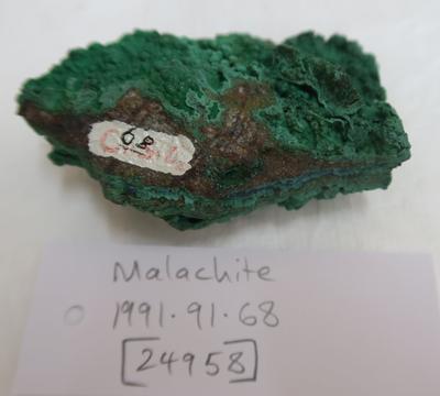 Malachite (hydrous copper carbonate)