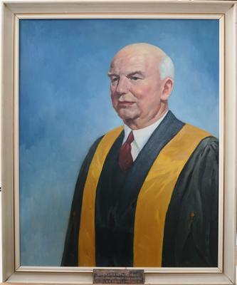 Portrait of Dr R J B Hall