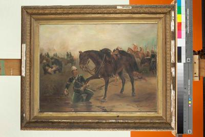Soldier With Wounded Horse