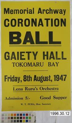 Memorial Archway Coronation Ball