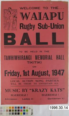 Waiapu Rugby Sub-Union Ball