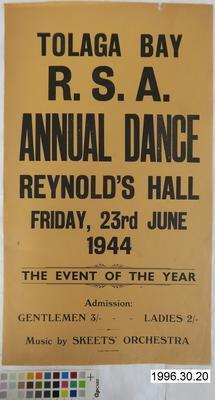 Tolaga Bay R.S.A. Annual Dance