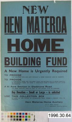 New Heni Materoa Home Building Fund