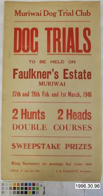 Muriwai Dog Trial Club Dog Trials