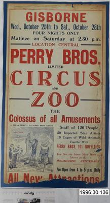 Perry Bros. Limited Circus and Zoo
