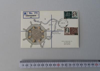 1969 Cook Bicentenary envelope
