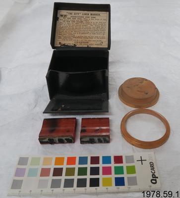 Marking stamp, Box