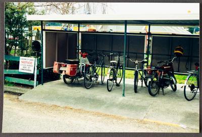 Covered bike parking