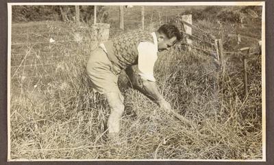 Jaycees member scrub clearing