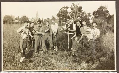 Jaycees scrub clearing team