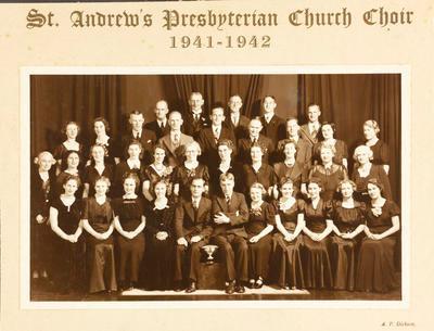 St Andrew's Presbyterian Church choir