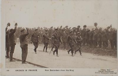 ANZACS in France - New Zealanders Cheer the King