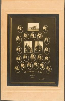 Kennedy and Evans and Staff; 1906; 30906