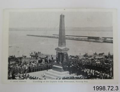 Unveiling of the Captain Cook Monument, Poverty Bay