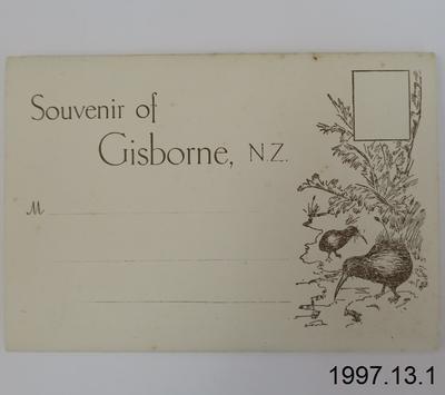 Souvenir of Gisborne, N.Z.
