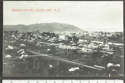Gisborne from Mc. Lernon's Hill. N.Z.