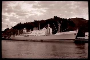 Ship in Gisborne Harbour