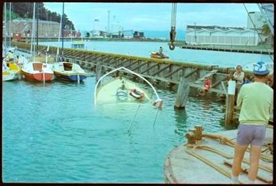 Boat Sinking in Gisborne Harbour