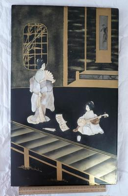 Japanese lacquer picture
