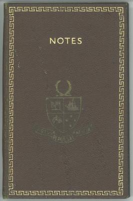 Notebook awarded at 1958 prize-giving