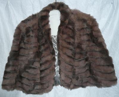 Fur shoulder cape