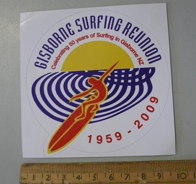 Gisborne Surfing Reunion 1959- 2009 sticker