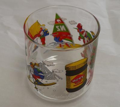 Vegemite drinking glass