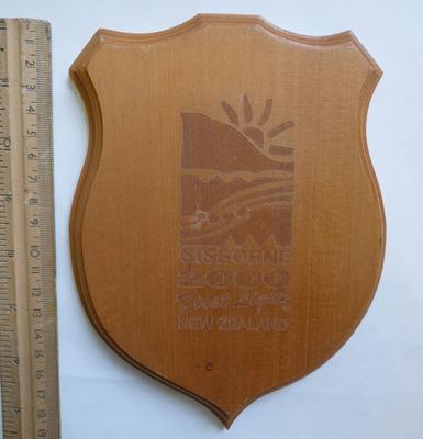 Gisborne 2000 First Light New Zealand plaque