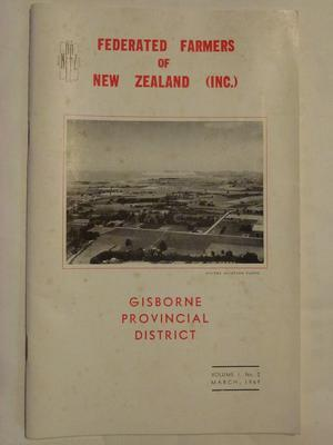 Federated Farmers of New Zealand Gisborne Provincial District