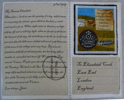 Postcard from Abroad, to Elizabeth Cook