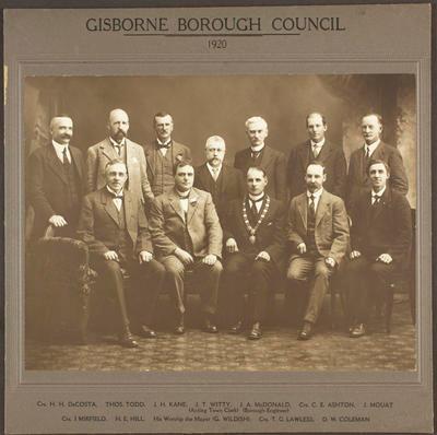 Gisborne Borough Council 1920