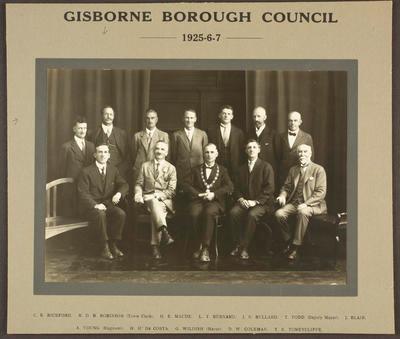 Gisborne Borough Council 1925-1927