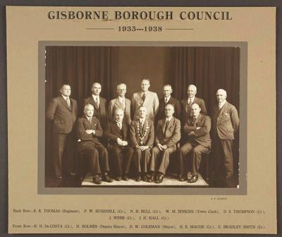 Gisborne Borough Council 1935-1938