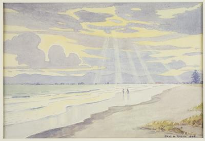 Beach Scene 1944