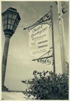 Chalet Rendezvous sign