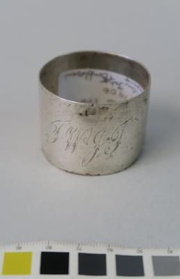 Initialled napkin ring