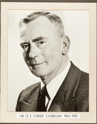Gisborne Harbour Board Chairman: D E Chrisp 1963 - 1974