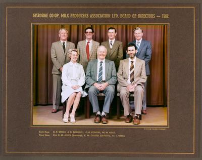 Gisborne Co-op Milk Producers Association Ltd. Board of Directors - 1982