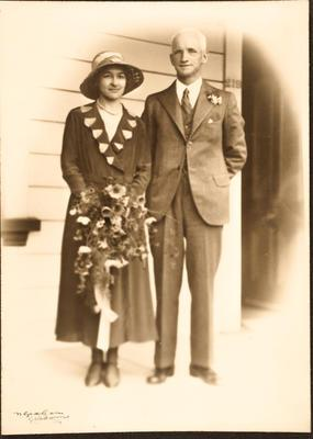 Wedding photo: Isabel Shaw and Charlie Hart