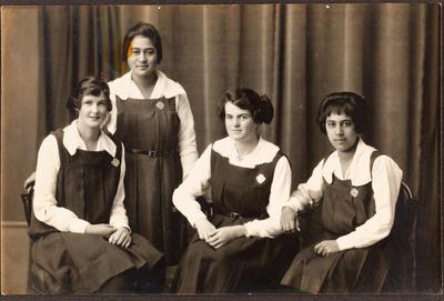 Four school girls