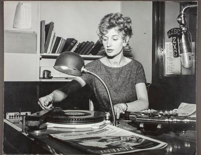 Eileen Cook in Radio 2ZG studio; 42043