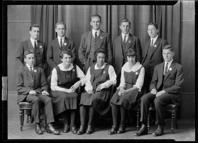 Group of ten in uniforms