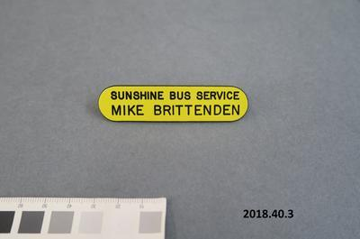 Identification badge